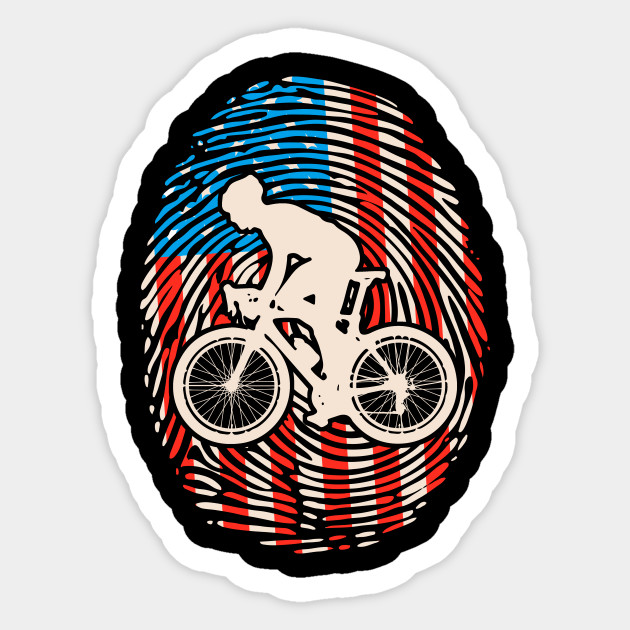Cycling Lover US American Flag Gift I