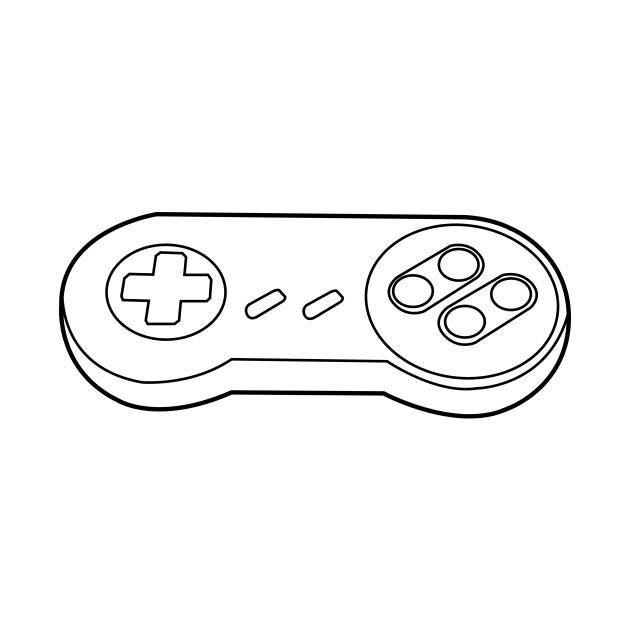 16-bit retro videogame controller