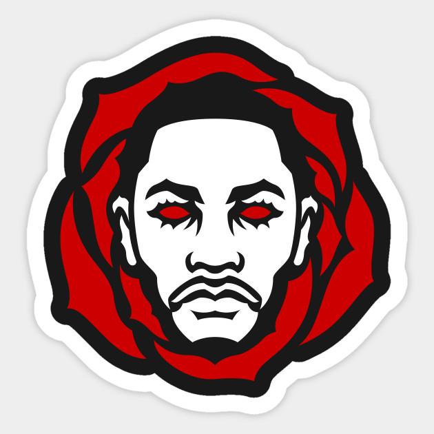 Derrick rose stickers teepublic rosey red sticker voltagebd Choice Image