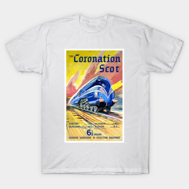 The Coronation Scot Vintage travel Poster reproduction