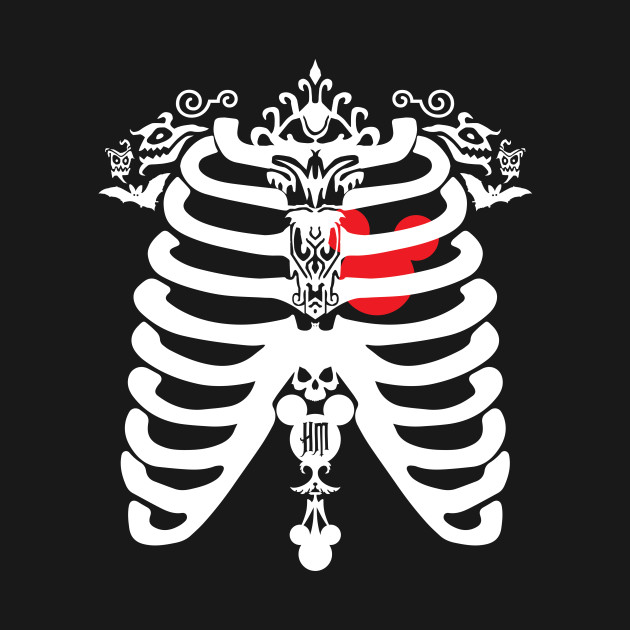 HM Chest Cavity red/white by Topher Adam *ORIGINAL OWNER OF THIS ARTWORK