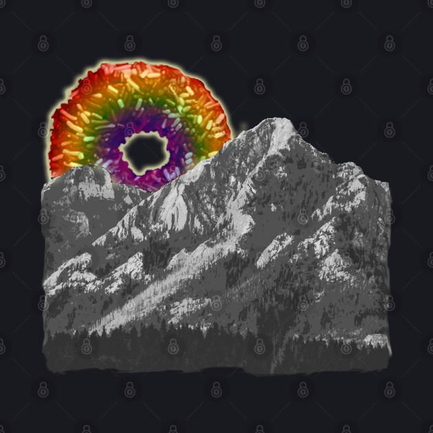 rainbow donut mountain