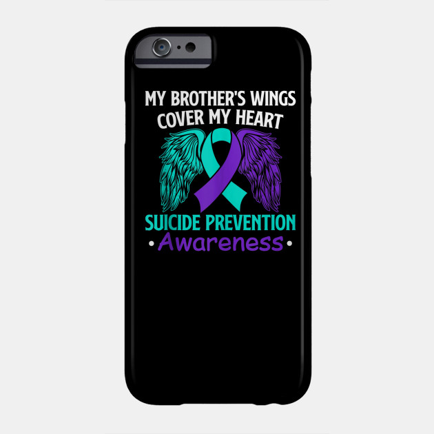 Suicide Prevention Awareness My Brothers Cover My Heart Hooded Sweatshirt