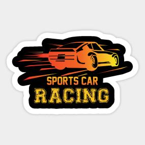 Car Racing Designs Stickers Teepublic