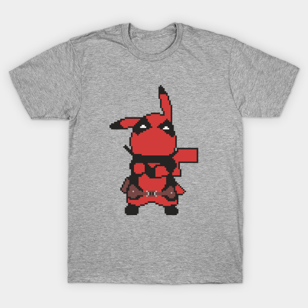 a8aedc0ff Pixelated Deadpool Pikachu - Deadpool Pikachu - T-Shirt | TeePublic