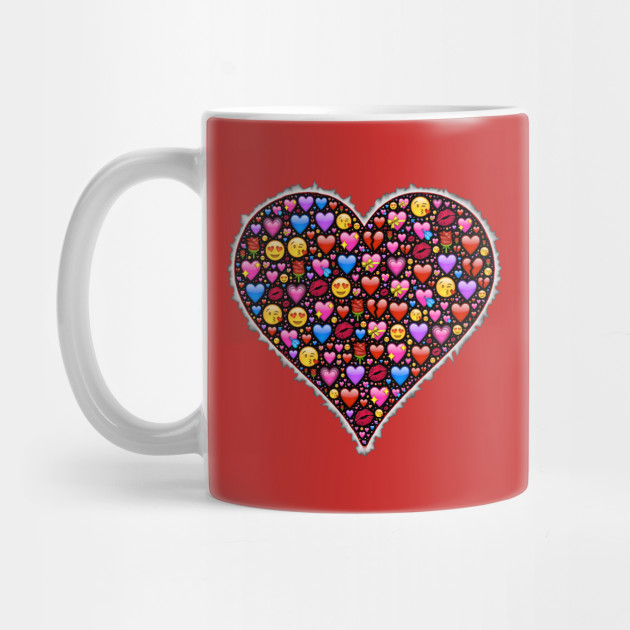 A Heart Full Of Love Emojis Emoji Happiness Mug Teepublic