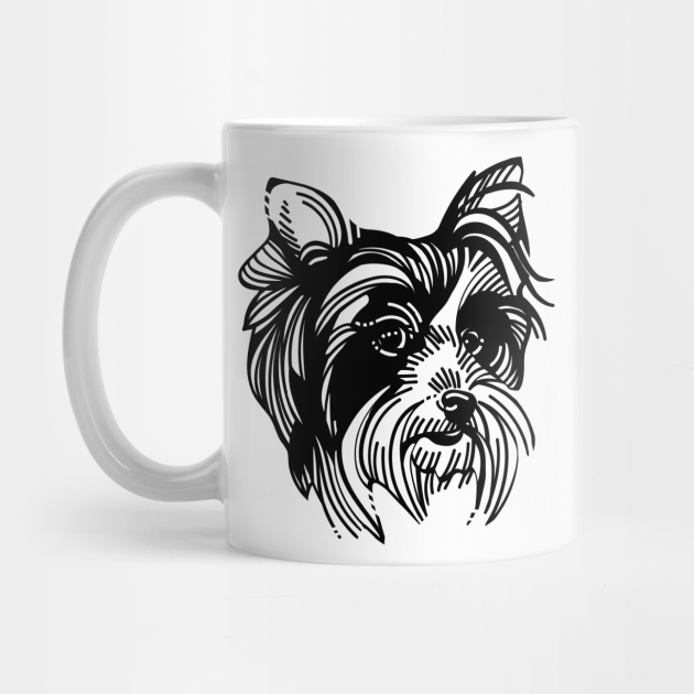 Cute And Cool Biewer Terrier Dog Face