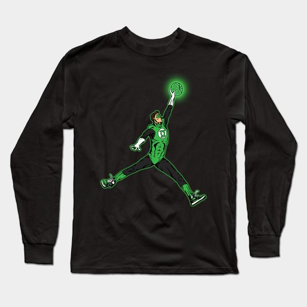 f827a3a115c1 Air Jordan - Green Lantern - Long Sleeve T-Shirt
