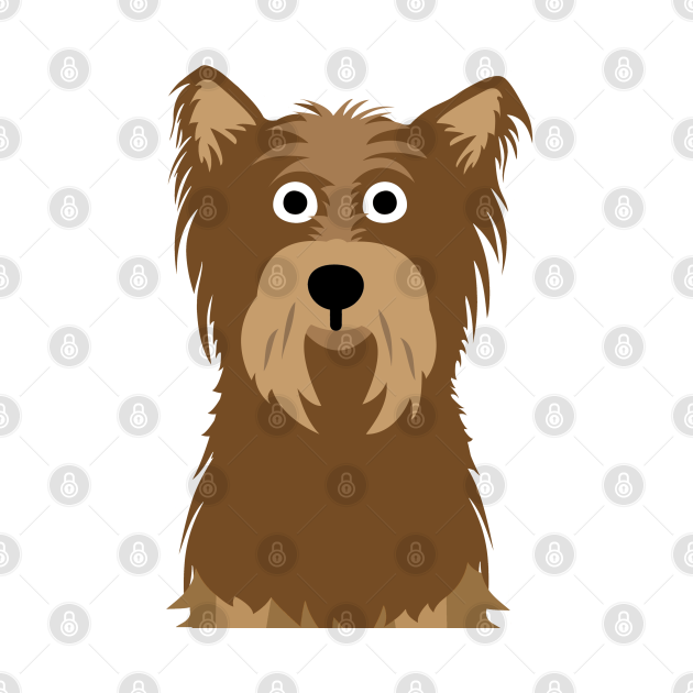 Funny Yorkshire Terrier Face Mask