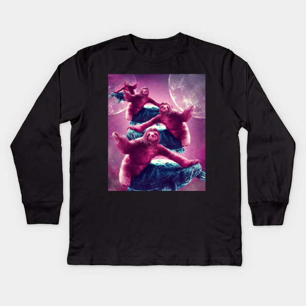 12a0bc688 Crazy Funny Space Sloth Riding On Turtle - Crazy Funny Space Sloth ...
