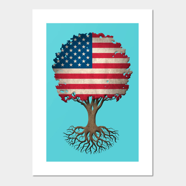 Tree of Life with American Flag