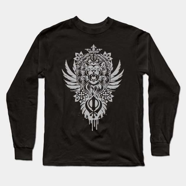 4c77d643 Khanda Lion - Lion - Long Sleeve T-Shirt | TeePublic