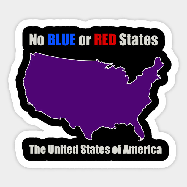 Purple America Map.Electoral Map United States Unity Red And Blue States Make Purple