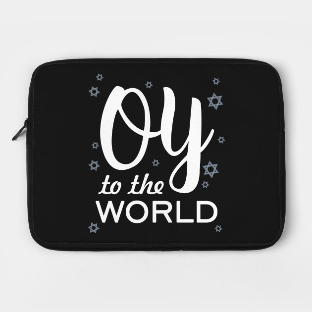 Oy To The World Funny Hanukkah Christmas Snow Gifts