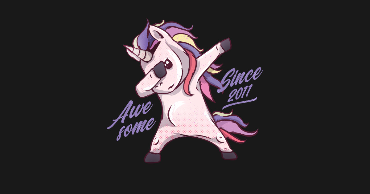7th Birthday Unicorn Dab T Shirt