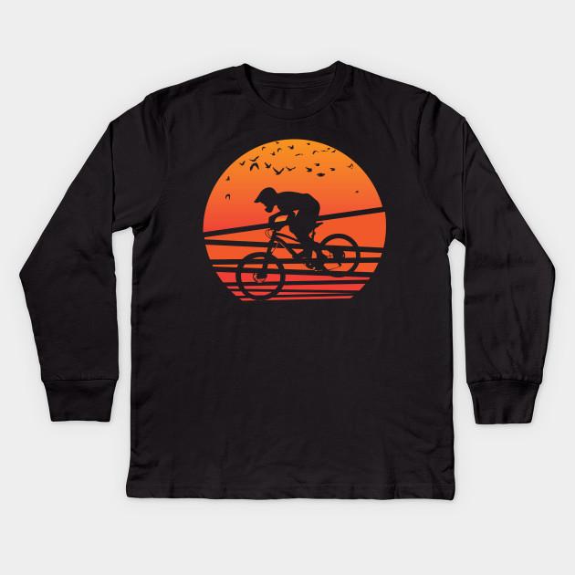 92648e555 Mountain Biking Shirts Mountain Bike Mountain Biker Kids Long Sleeve T-Shirt