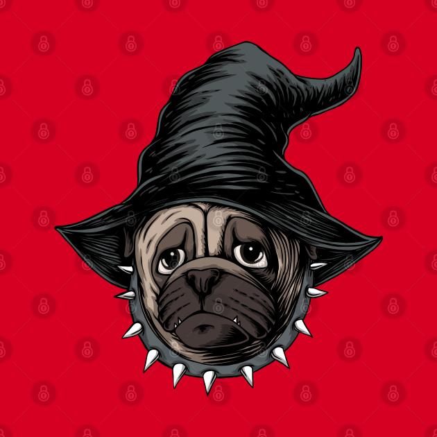 Pug witch halloween costume