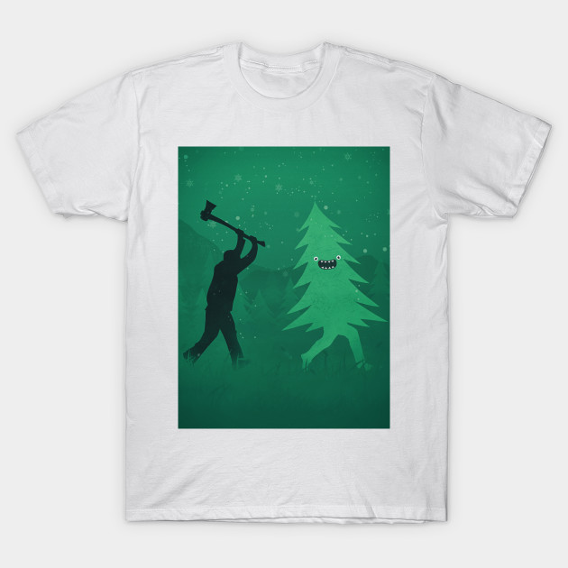 1537136a4 Funny Christmas Tree Hunted by lumberjack (Funny Humor) - Christmas ...