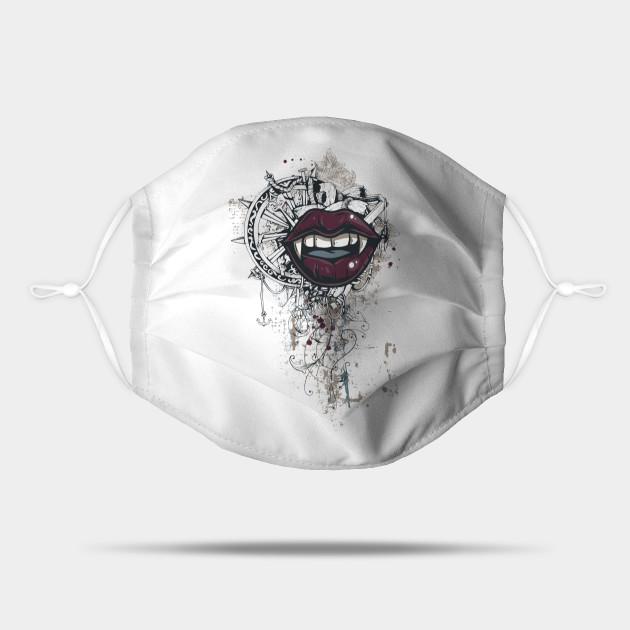 Vampiric Seduction Illustrated Gothic Design