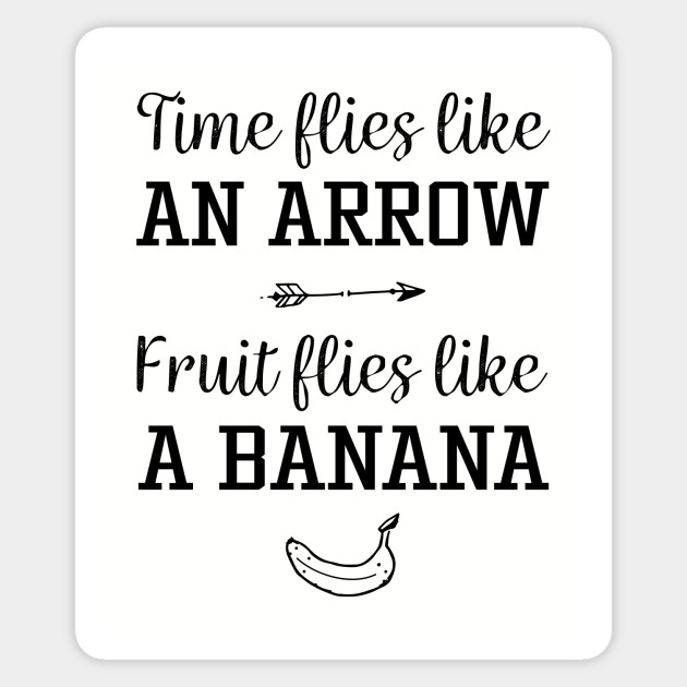 Time Flies Quickly Quotes: Funny Time Flies Saying - Time Flies - Sticker