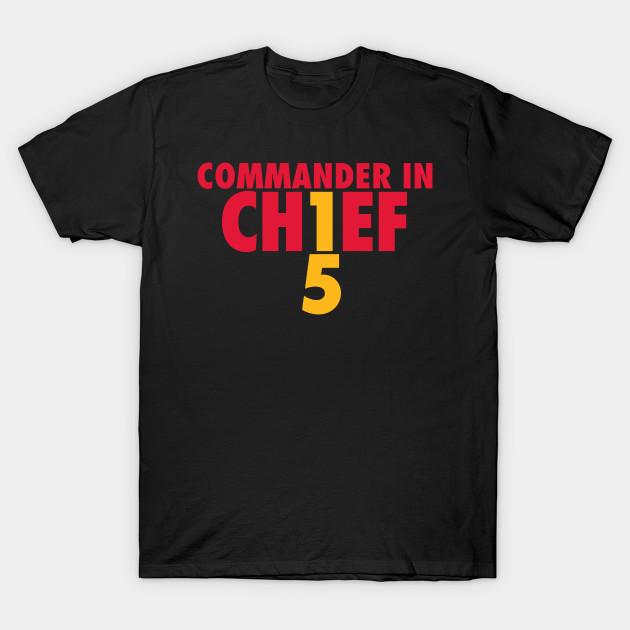 9ef1dcad450 Mahomes The Commander - Patrick Mahomes - T-Shirt | TeePublic