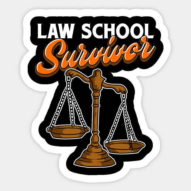 Law School Survivor Funny Student Graduates Design Sticker