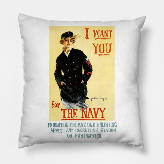 Vintage WWI Navy Recruiting Poster: I Want You for the Navy