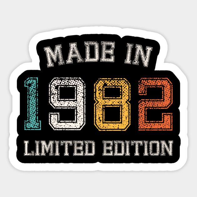 Born in 1982 Made in 1982 birth year Gift - Born In 1982 - Sticker ...