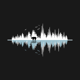 The Sound Of Nature - Music Sound Wave t-shirts