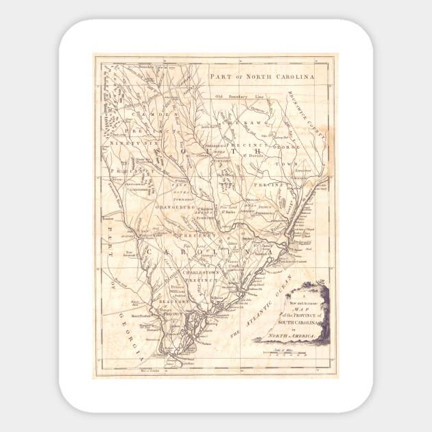 Vintage Map of South Carolina (1779)