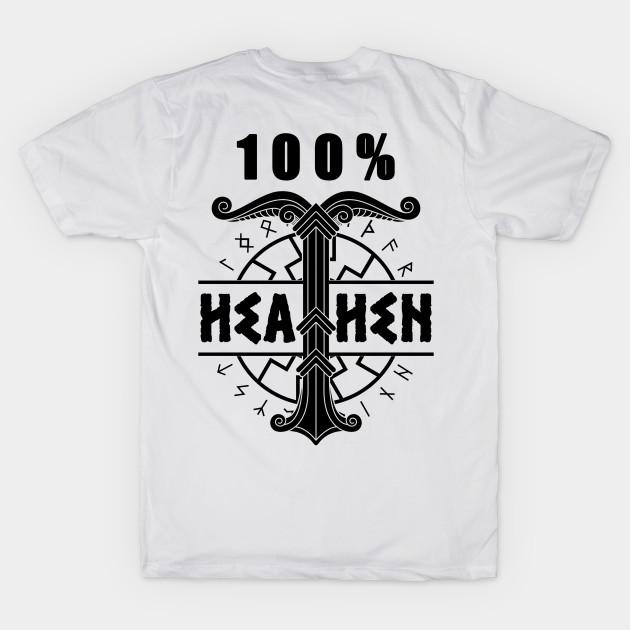 f66cd186 Back design 100% Heathen Viking Shirts T-Shirt - Viking - T-Shirt ...