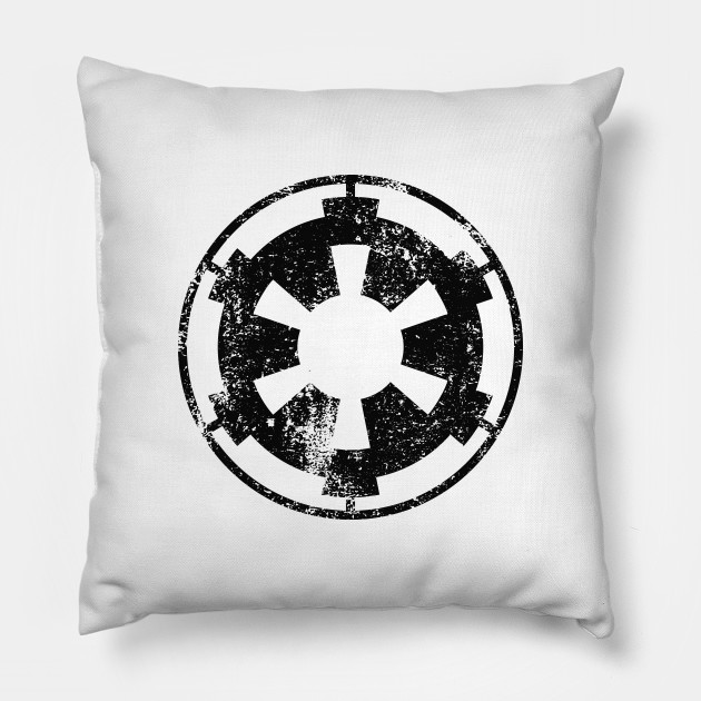 Galactic Empire Logo Distressed Star Wars Pillow Teepublic