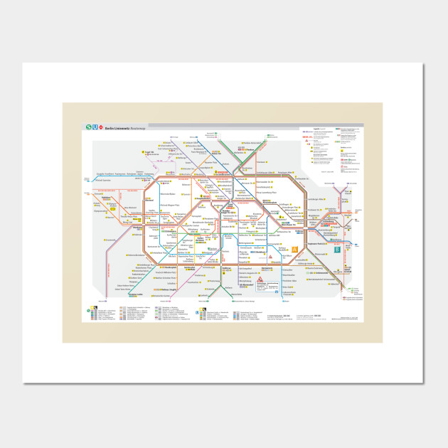 Berlin Wall Subway Map.Berlin Subway Map