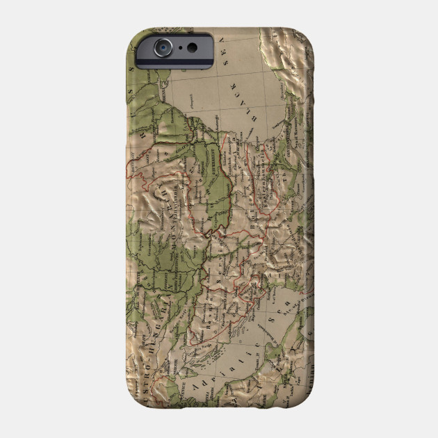 Vintage Physical Map of Greece (1880) - Greece Map - Phone Case ...