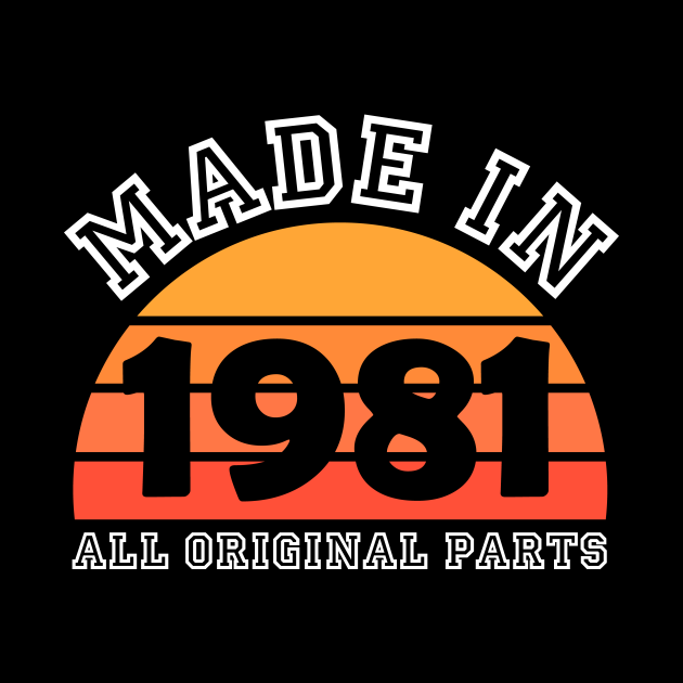 Made 1981 Original Parts 40th Birthday