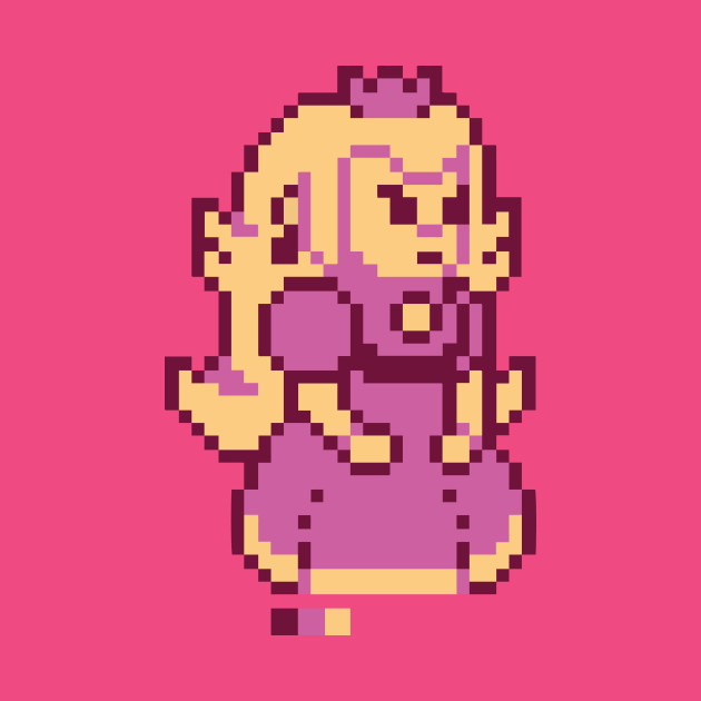 Peach Pixel - Princess Peach - T-Shirt