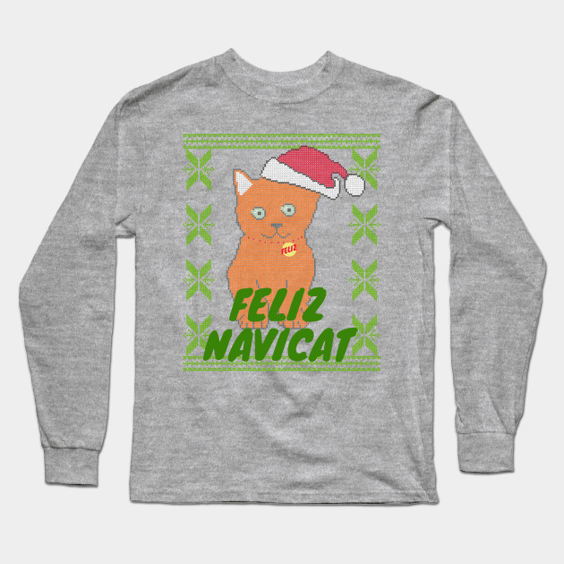 Christmas Sweaters Cute.Ginger Feliz Navidad Cat Feliz Navicat Cute Orange Cat Ugly Christmas Sweater