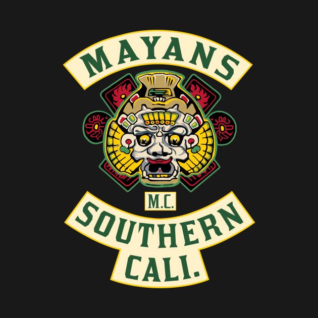 Patch Of The Mayans Back And Front Print