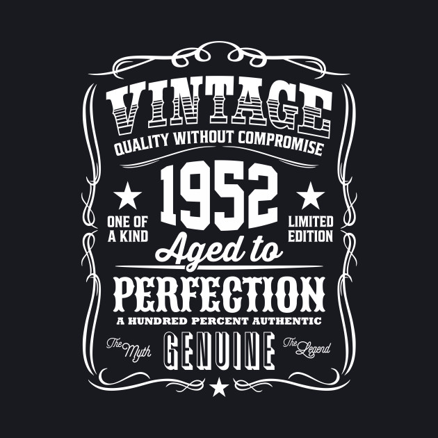 Vintage 1952 Aged to Perfection