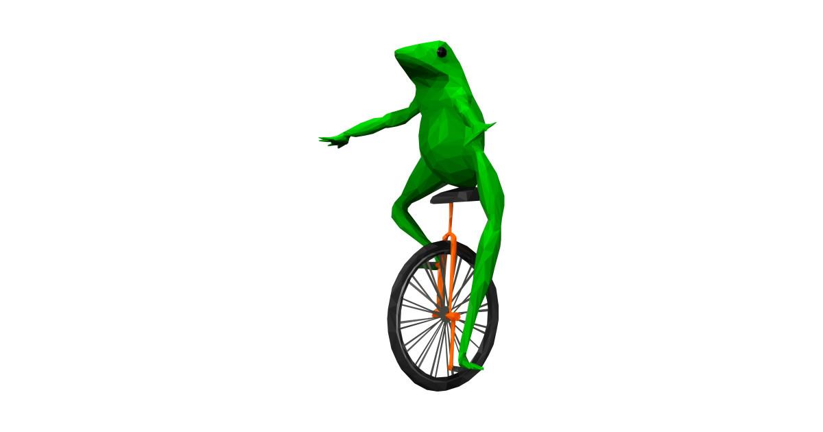 Dat Boi: frog on unicycle - Meme - T-Shirt   TeePublic