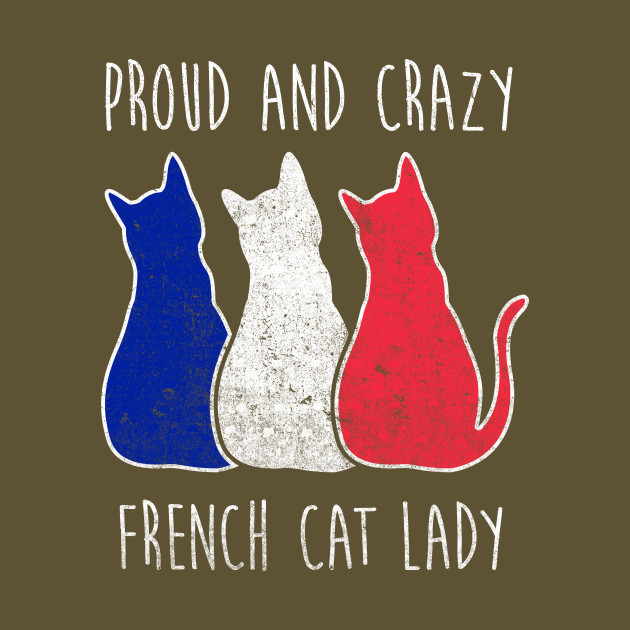 Crazy cat lady in french