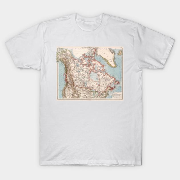 Map Of Canada 1905.Vintage Map Of Canada 1905 Canada Map T Shirt Teepublic
