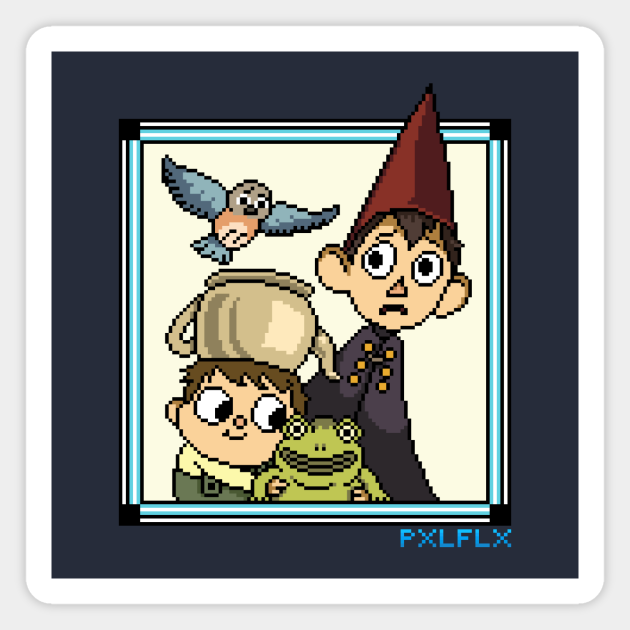 Over The Garden Wall Characters Pixel Art Over The Garden Wall Aimant Teepublic Fr