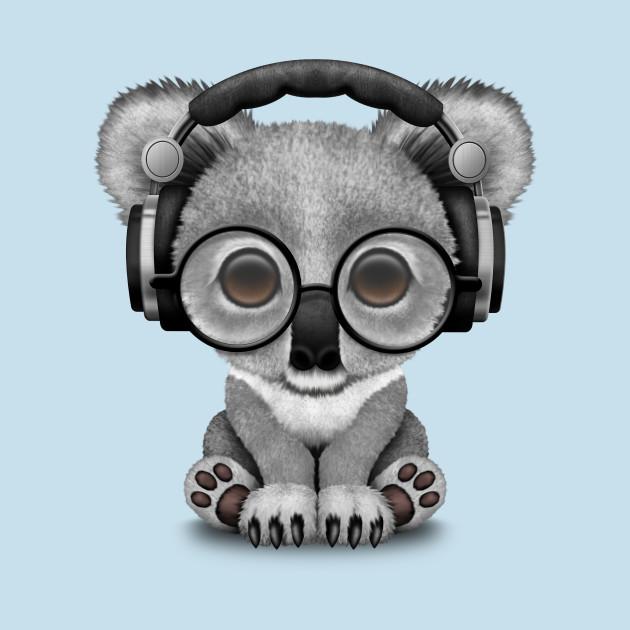 613bf21d4c2 Cute Baby Koala Bear Dj Wearing Headphones - Koala - T-Shirt