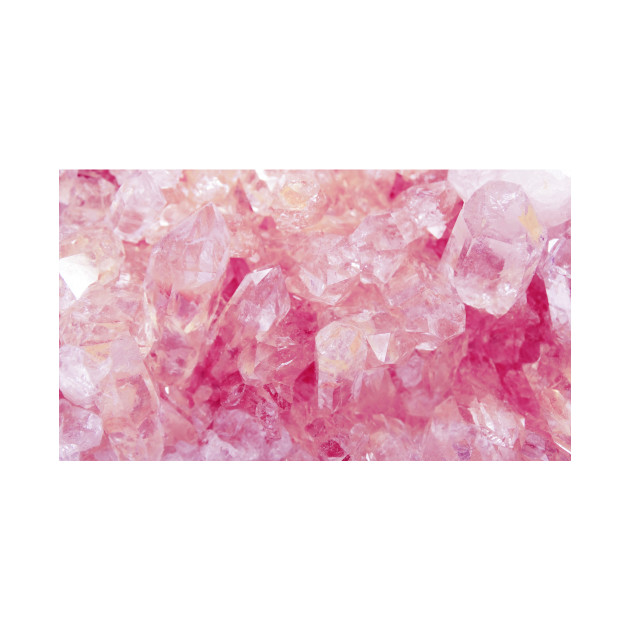 Pink Rose Quartz Crystal Geode