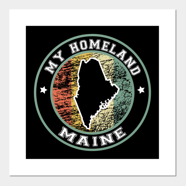 Homeland Maine state USA vintage