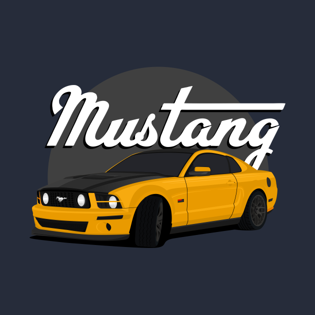 classic cars - yellow shinning color