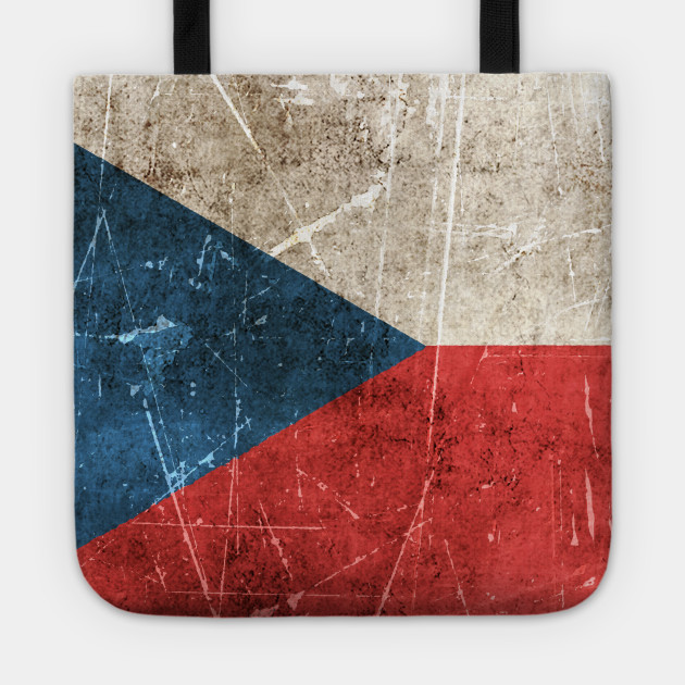 Vintage Aged and Scratched Czech Flag