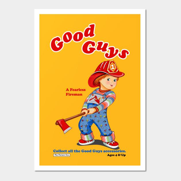 Good Guys - Fireman - Child\'s Play - Chucky - Chucky - Wall Art ...