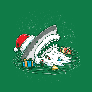 The Santa Shark t-shirts